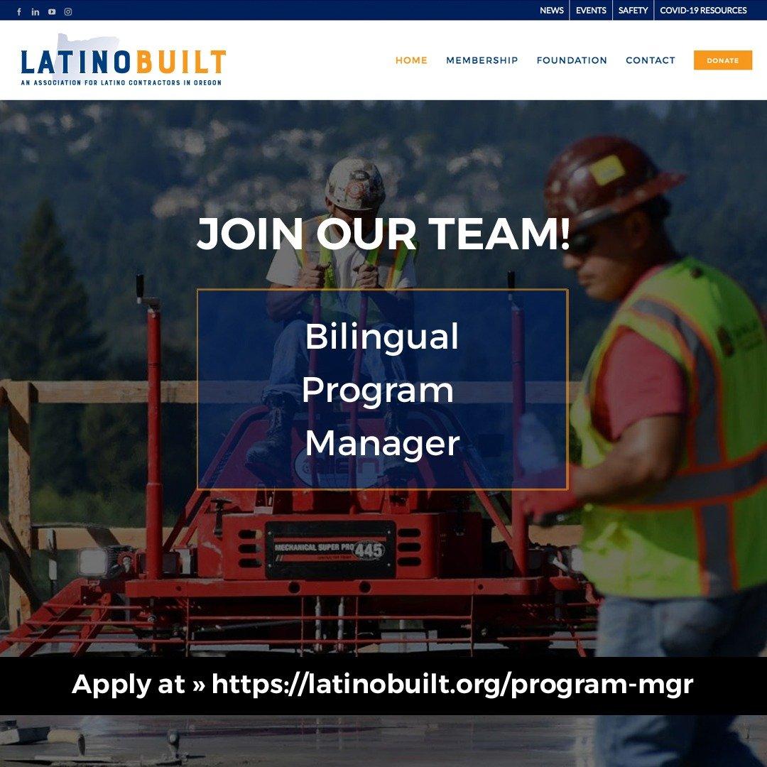 LatinoBuilt Careers Program Manager