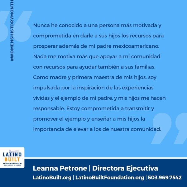 WHM2021-LatinoBuilt-Leanna Petrone